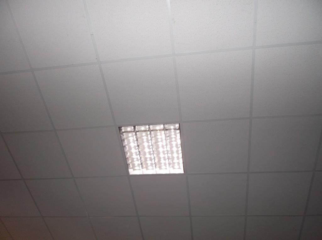 Светодиодный светильник Армстронг на месте.