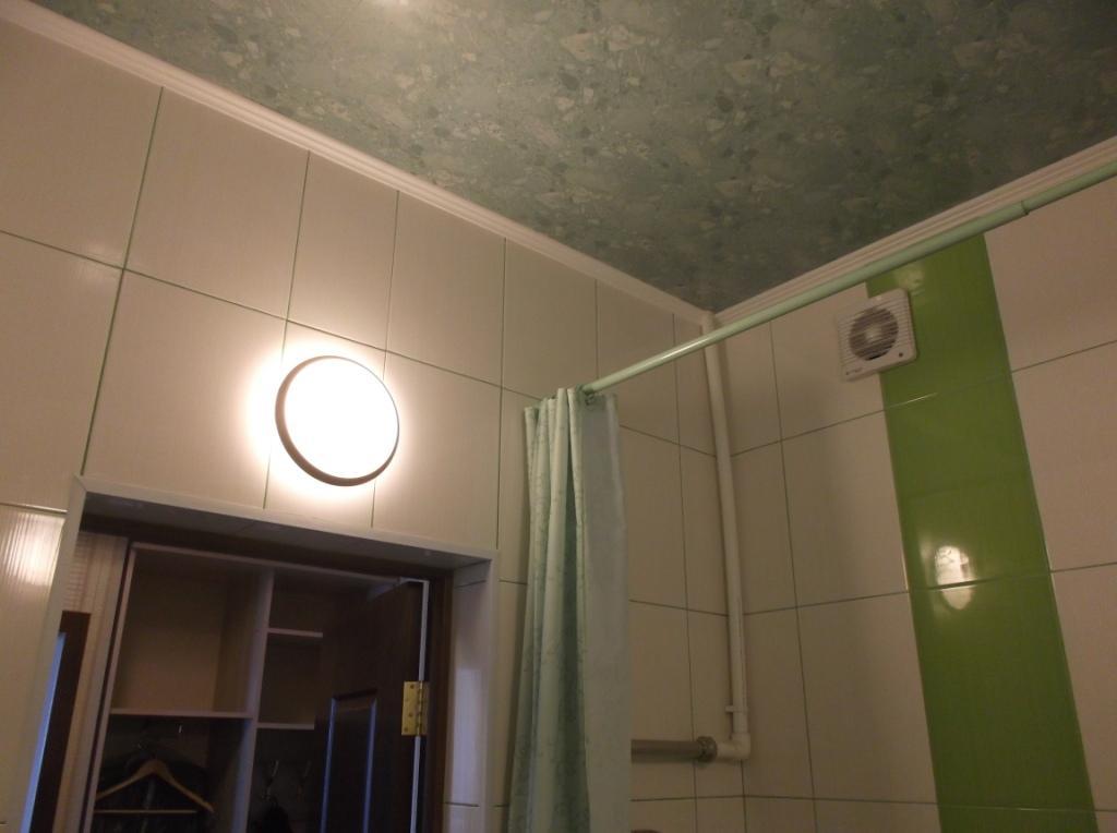 Светильник в ванной.