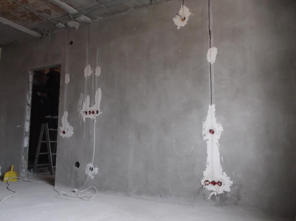 Зал выключатели и розетки