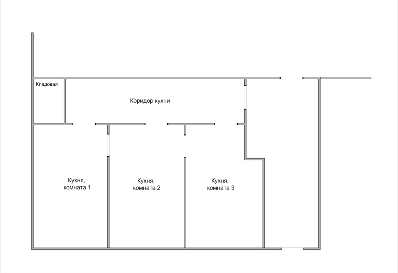 Схема кухни - электромонтаж 1