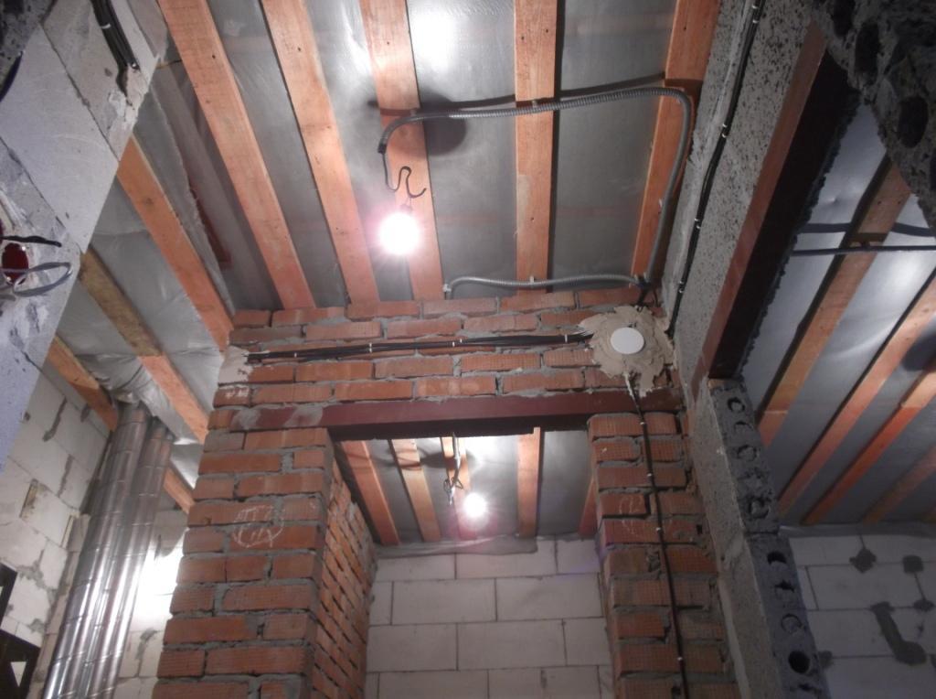 Электропроводка смонтирована 2 этаж 3