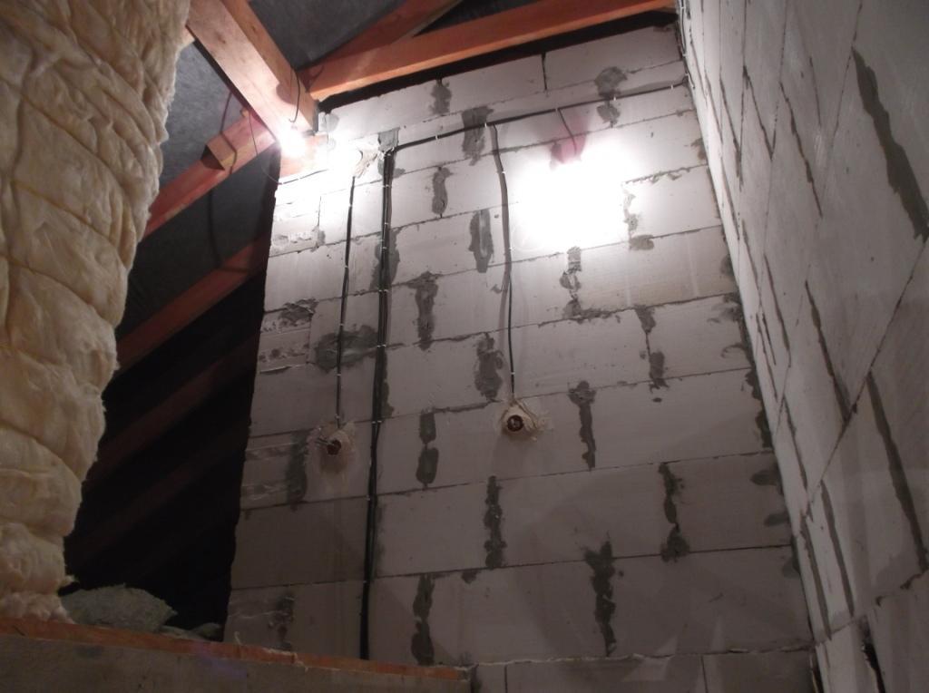 Электропроводка смонтирована 3 этаж 1