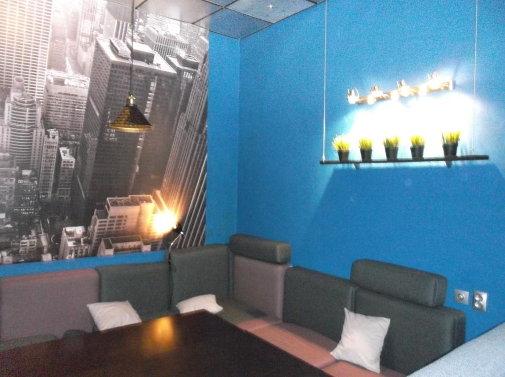 Монтаж освещения в Launge зале 14