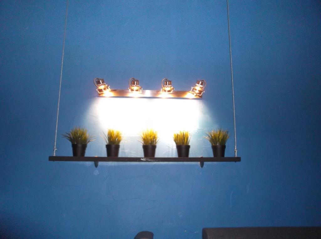 Монтаж освещения в Launge зале 3