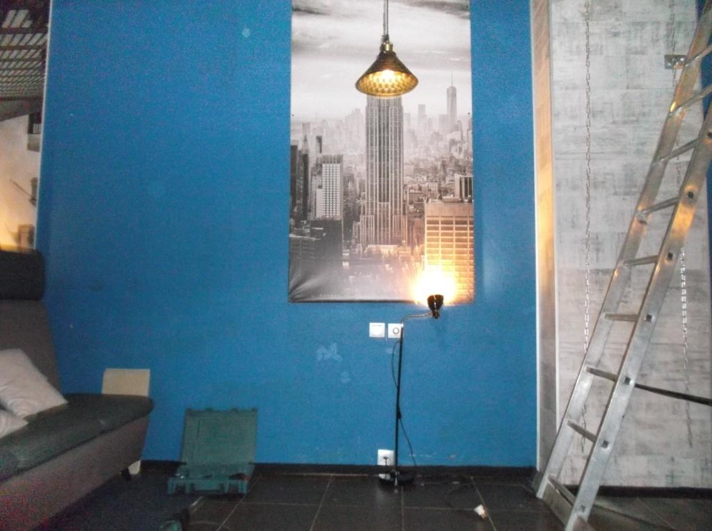 Монтаж освещения в Launge зале 9