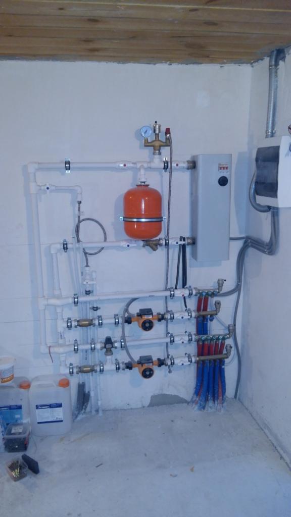 Монтаж отопления и теплого пола 1