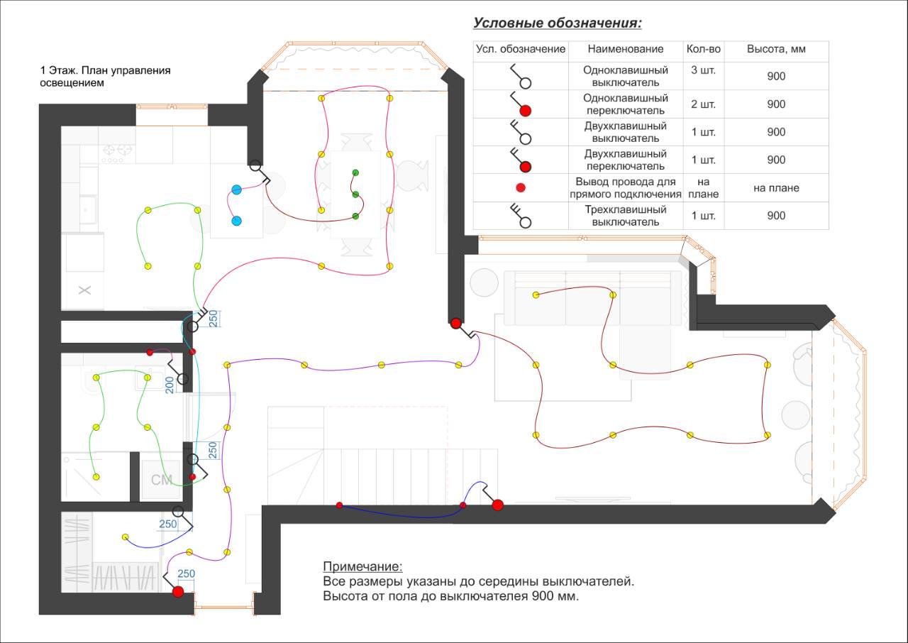 План расположения светильников 1