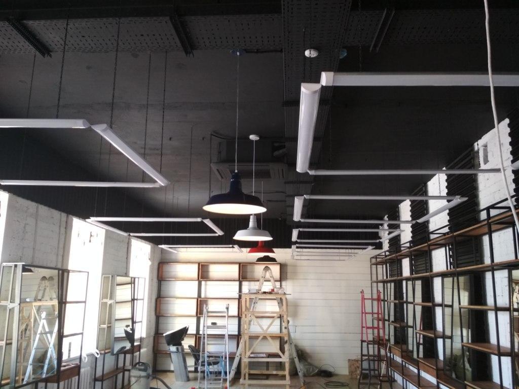 Монтаж центрального освещения 2