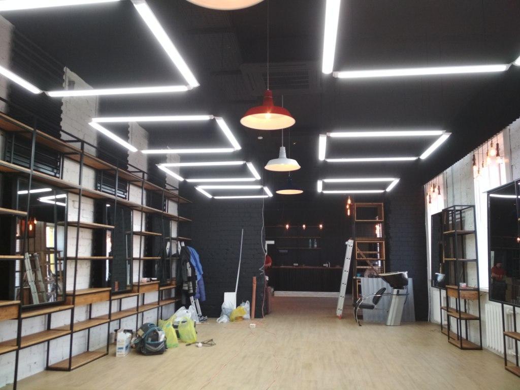 Монтаж центрального освещения 3